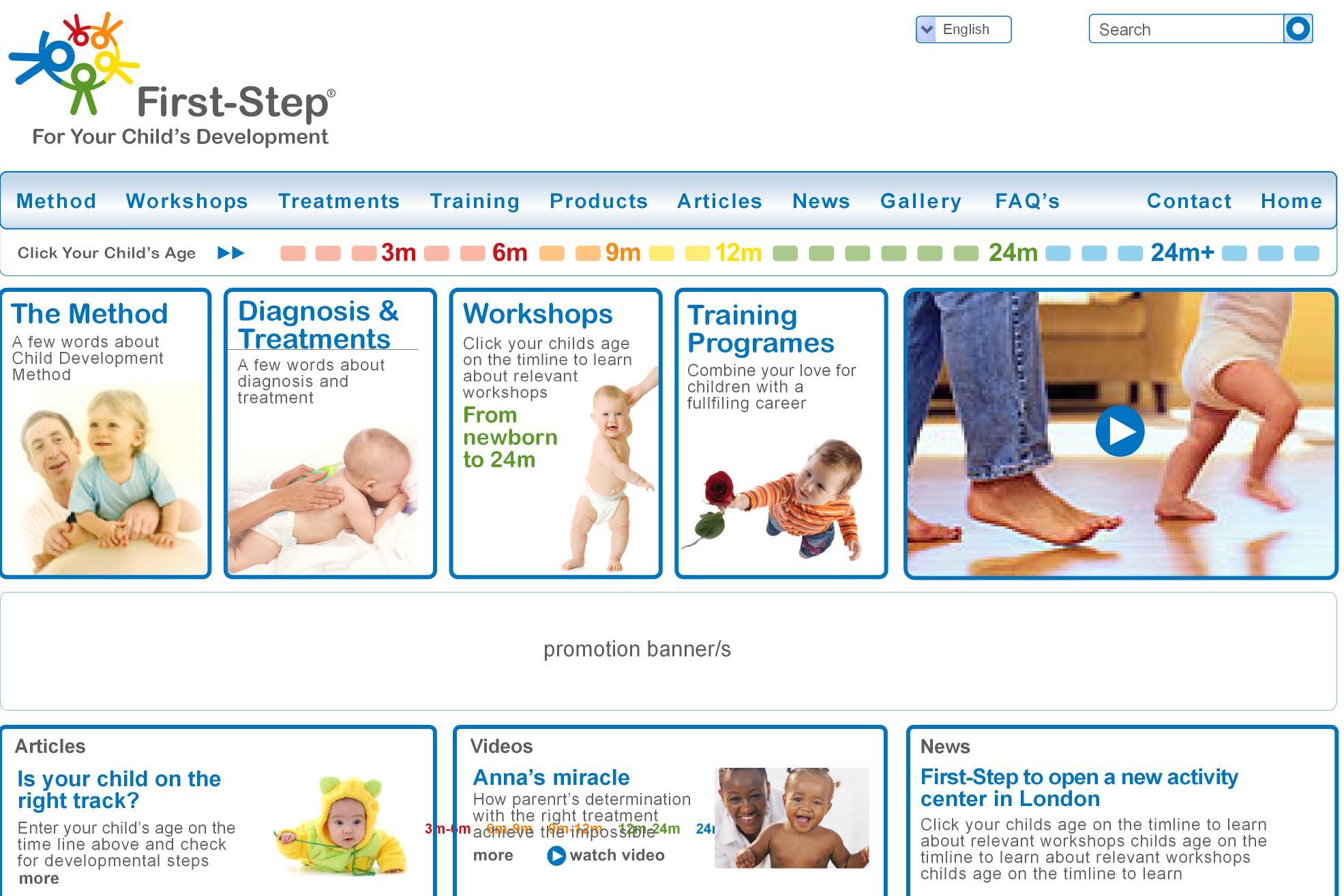 first step international site